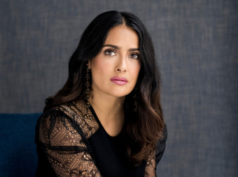 Salma Hayek plastic surgery after and before