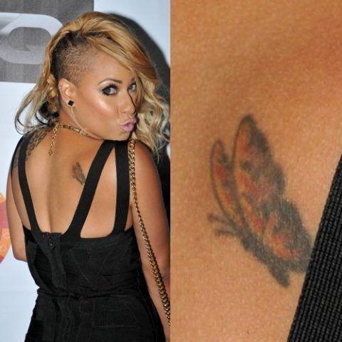 Hazel-E's butterfly on the back