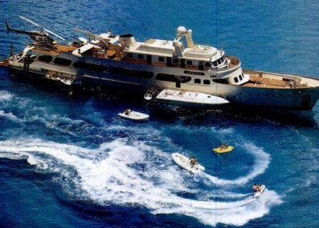 An image of Nadine Caridi's Yacht Gifted by Jordan Belfort